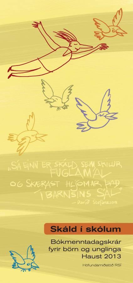 Skáld í skólum : illustration by Áslaug Jónsdóttir
