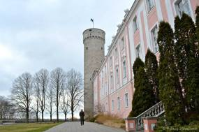 Tallinn - Toompea Castle - Tall Herman Tower - The parliament